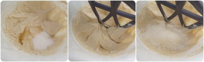 Aggiungere zucchero e miele - Ricetta Bagel