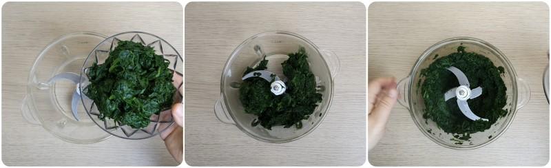 Frullare gli spinaci - Frittata di spinaci al forno ricetta