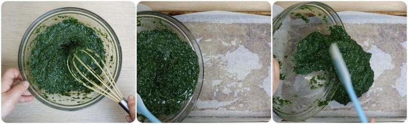 Stendere su una placca da forno - Frittata con spinaci ricetta