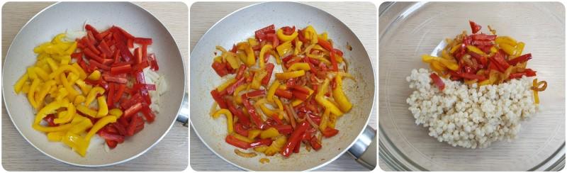 Cottura dei peperoni - Insalata di grano ricetta