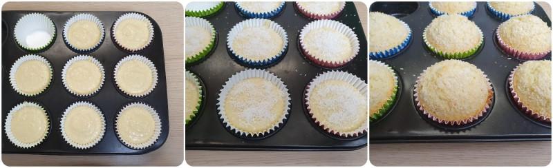 Cottura dei Muffin al cocco ricetta