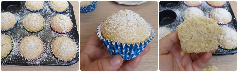 Muffin al cocco pronti