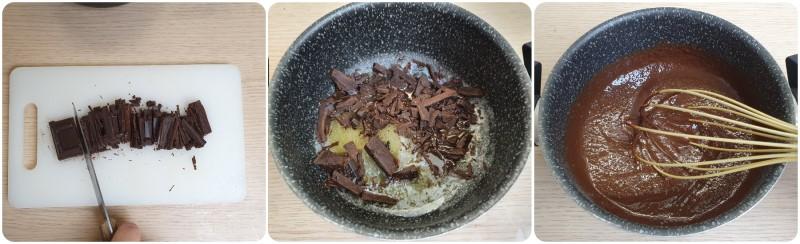 Unire il cioccolato fondente - Budino al cioccolato ricetta