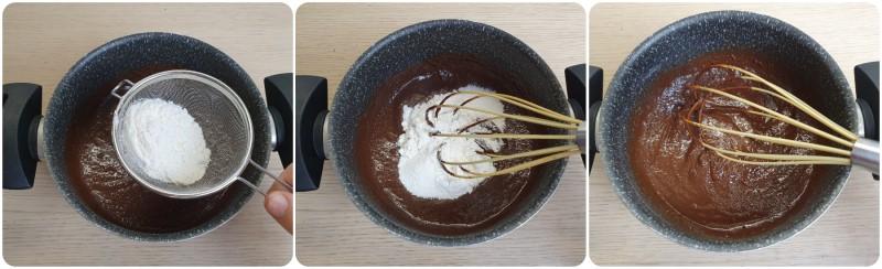 Unire la farina - Ricetta budini al cioccolato