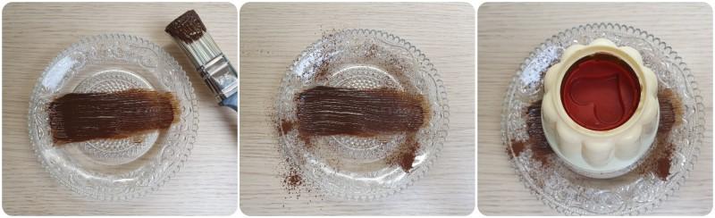 Decorazione del piatto - Ricetta budino al cioccolato