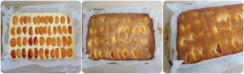 Cottura della Torta con albicocche
