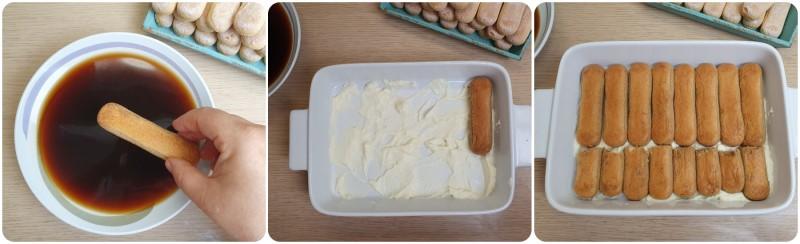Fare uno strato di savoiardi - Tiramisu' senza uova