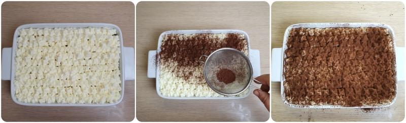 Decorazione del tiramisu senza uova