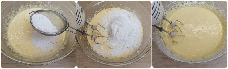Unire la farina - Impasto Orange Cake