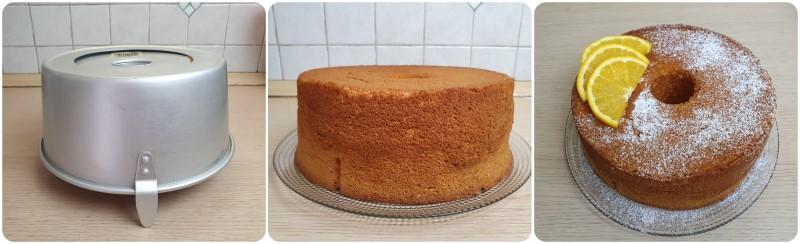 Decorazione della Chiffon Cake arancia