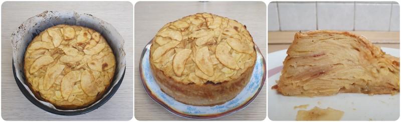 Cottura della Torta di mele light