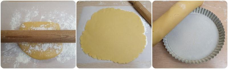 Stendere l'impasto - Ricetta Crostata di Nutella