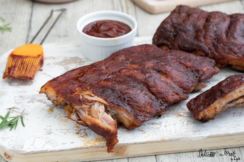 Costine al barbecue ricetta BBQ Ribs