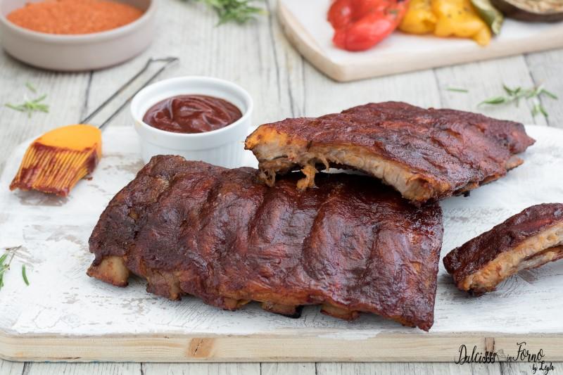 Spare ribs ricetta Ribs on BBQ o BBQ Ribs