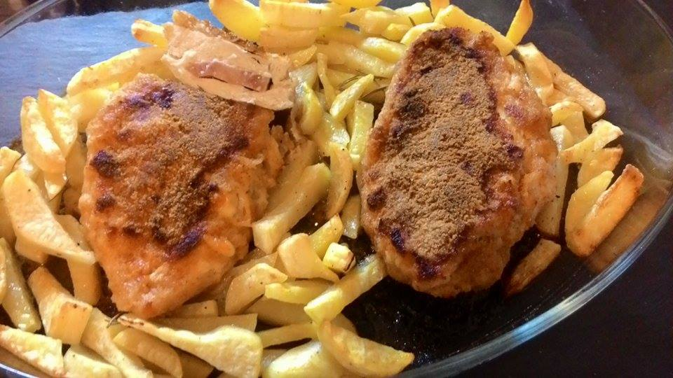Petti di pollo ripiene con patate