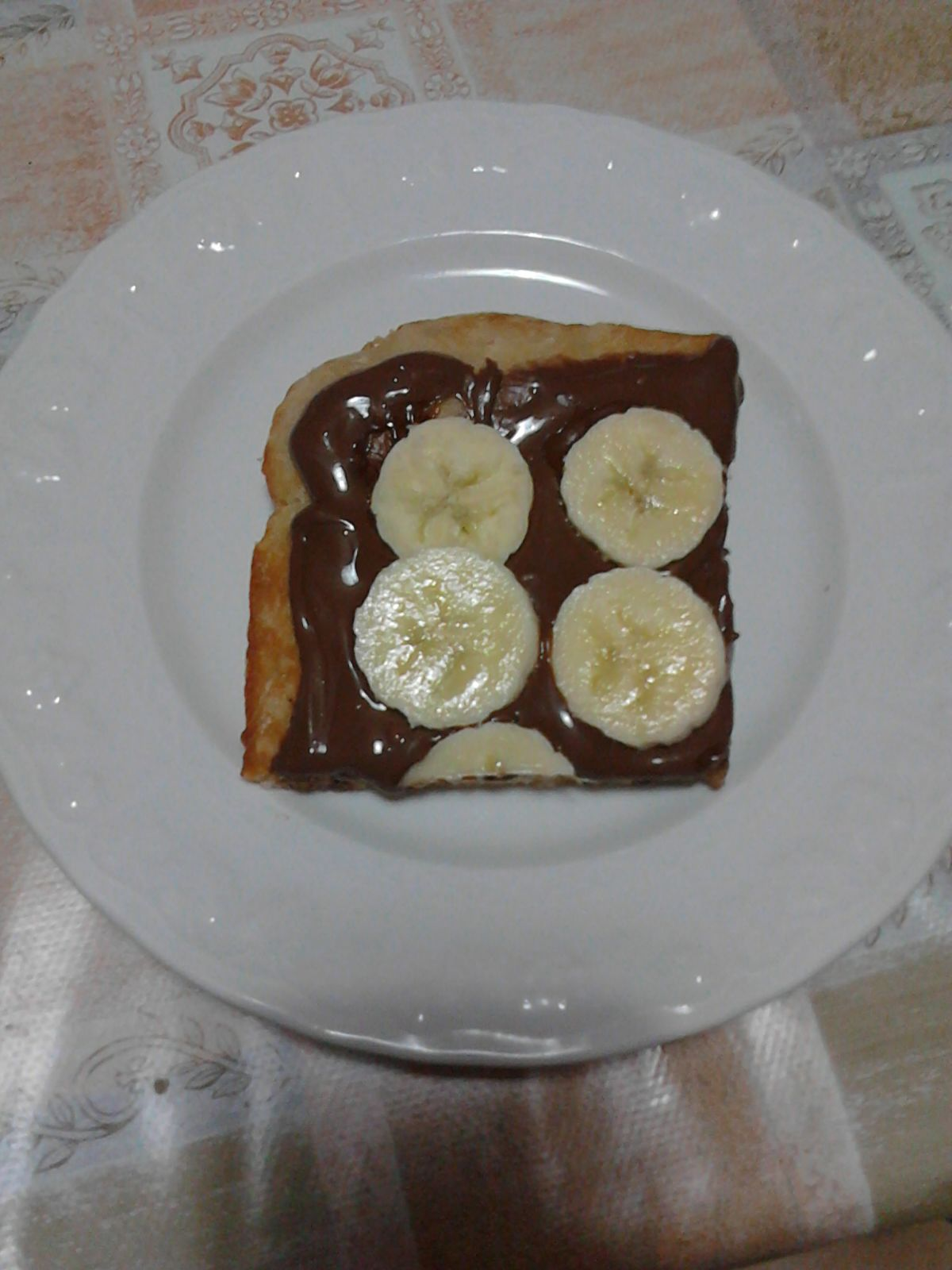 Pizza nutella e banana