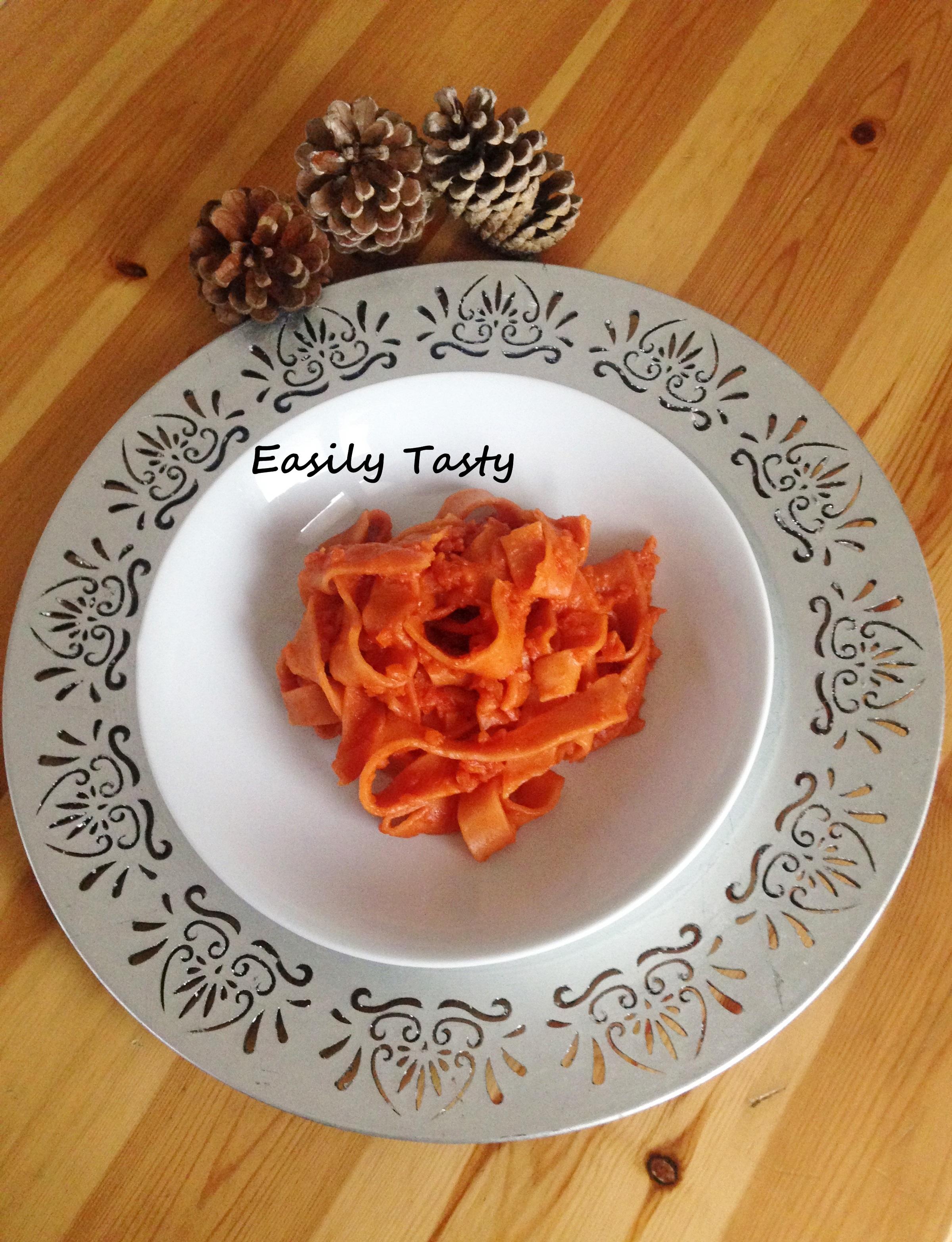 Pasta fresca con ragù di carote