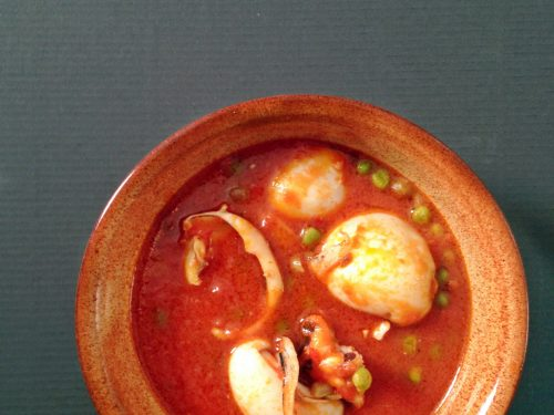 Zuppa di seppie e piselli