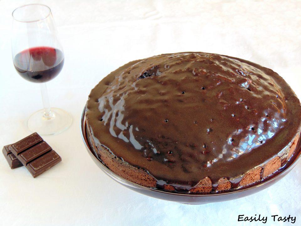 torta al cacao e vino rosso