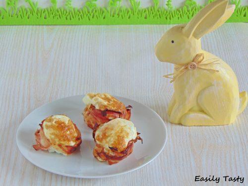 Uova al forno con pancetta