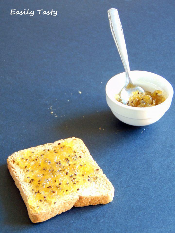 marmellata di kiwi e scorze di limone