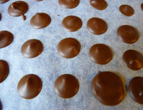 bottoni di cioccolato
