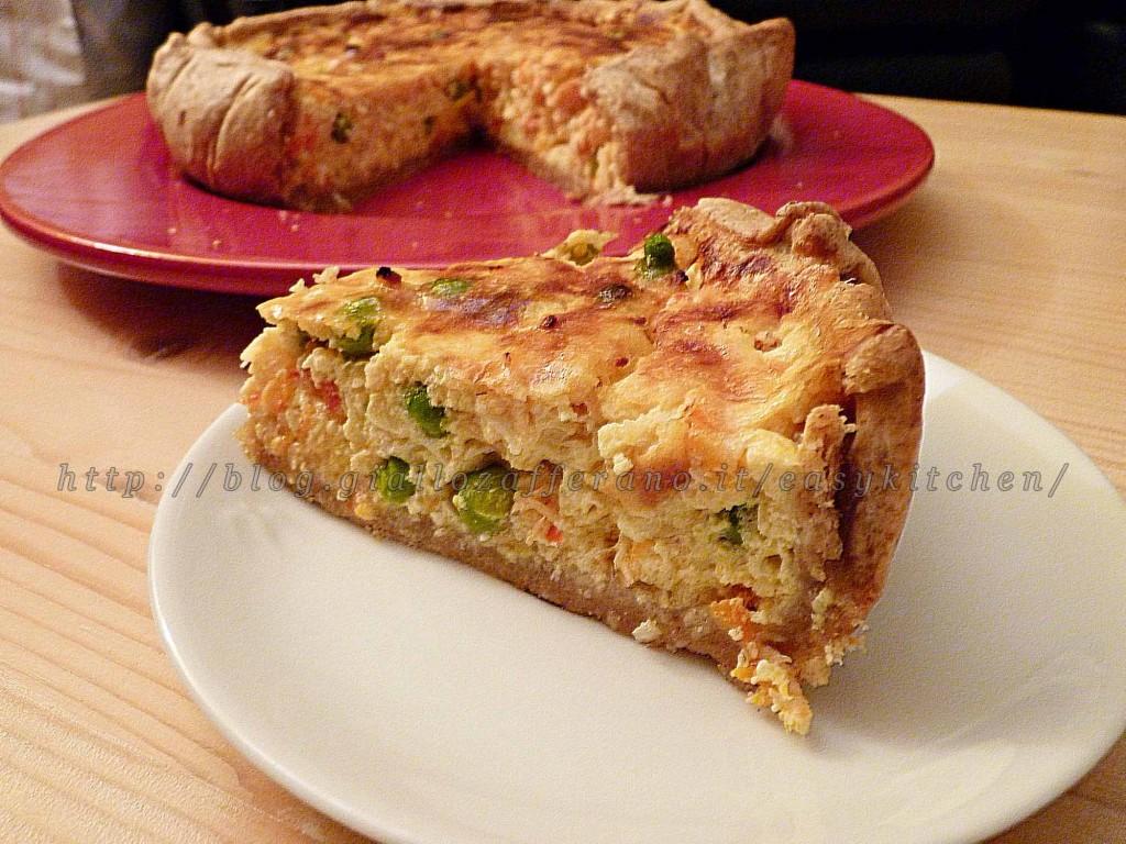 Torta salata light al salmone e quark