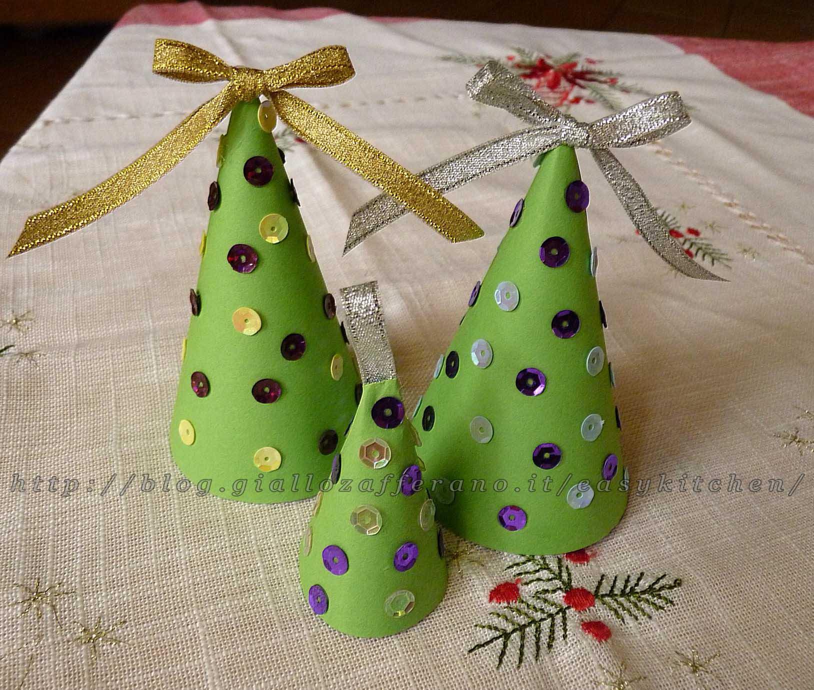 Preferenza Alberelli di natale semplicissimi tutorial addobbi natalizi YY47