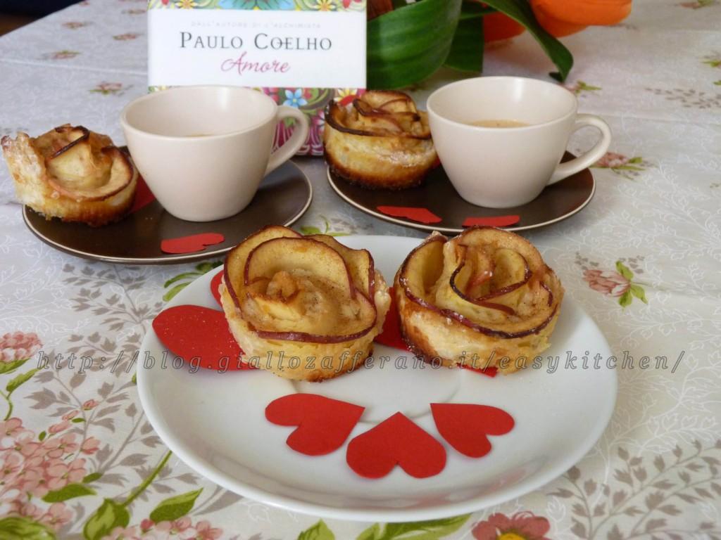 Apple roses ricetta romantica per San Valentino Easy Kitchen