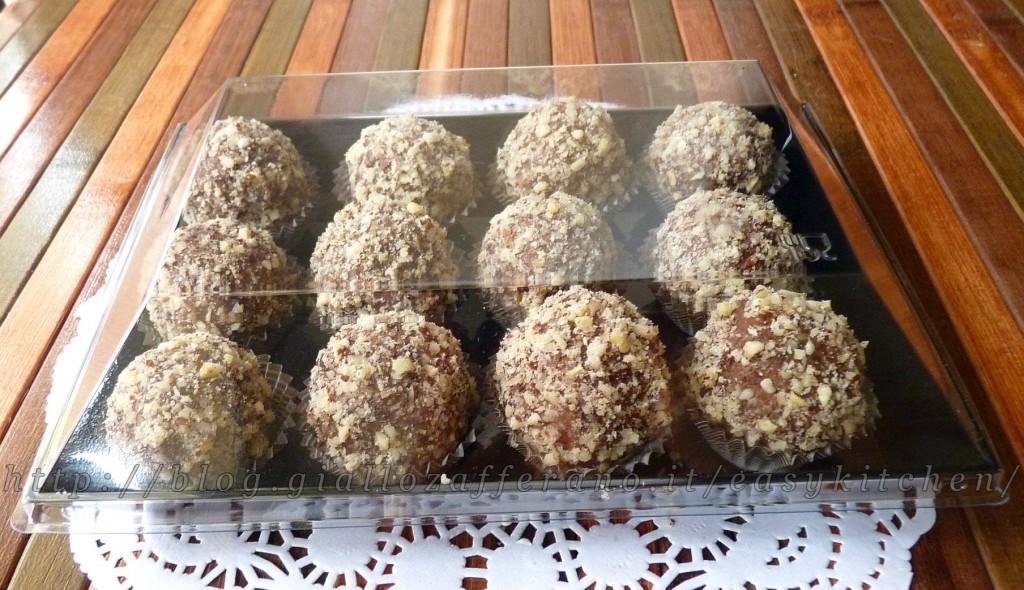 Dolcetti con cioccolato e pasta di nocciole ricetta dolci senza forno|Easy Kitchen