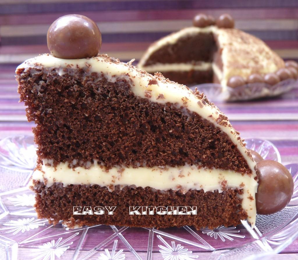 Torta con ganache bianca ricetta peccaminosa|Easy Kitchen