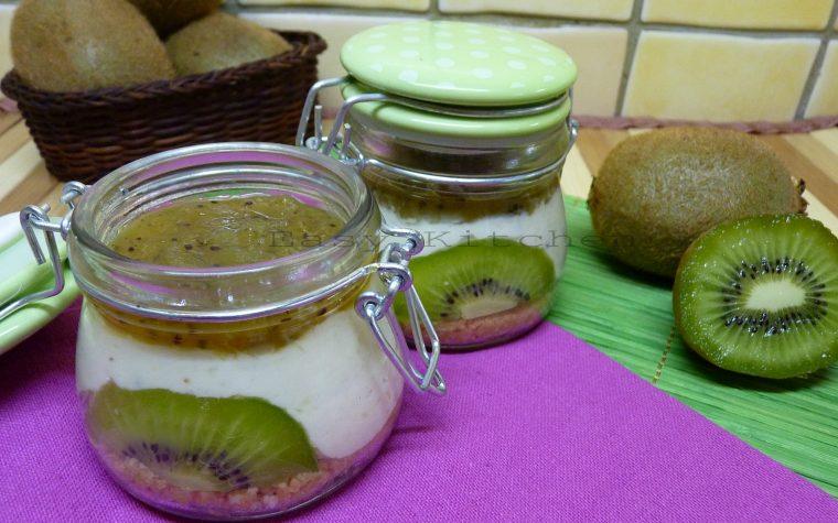Cheesecake al kiwi in barattolo