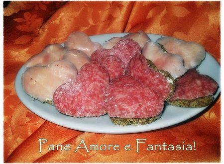 Polpette di ricotta e broccoli con cuori di prosciutto e salame – antipasto di San Valentino