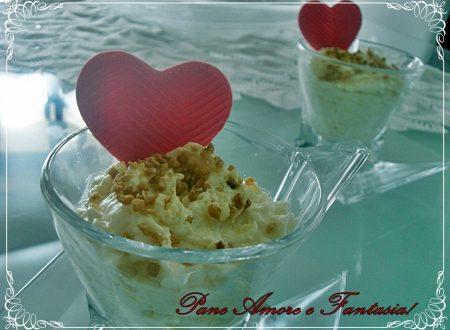 Dolce di panna con mele – dessert al cucchiaio