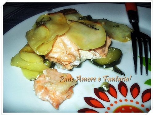 Salmone in crosta di patate – secondo piatto ipocalorico