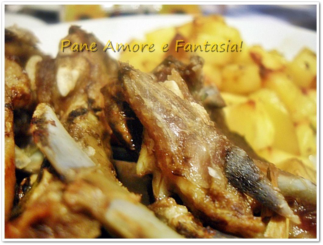 Agnello al forno con patate ricetta tradizionale pane - Forno tradizionale microonde ...