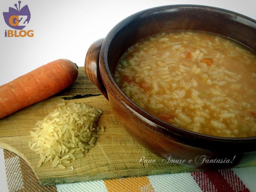 minestra di riso e carote