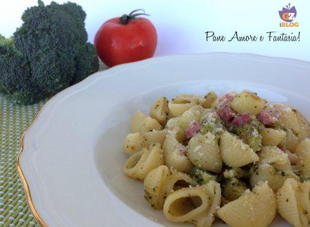 Pasta con broccoli, patate e pancetta – primo piatto