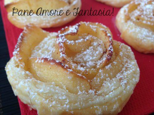 Rose di mele e pasta sfoglia – dolce delizia