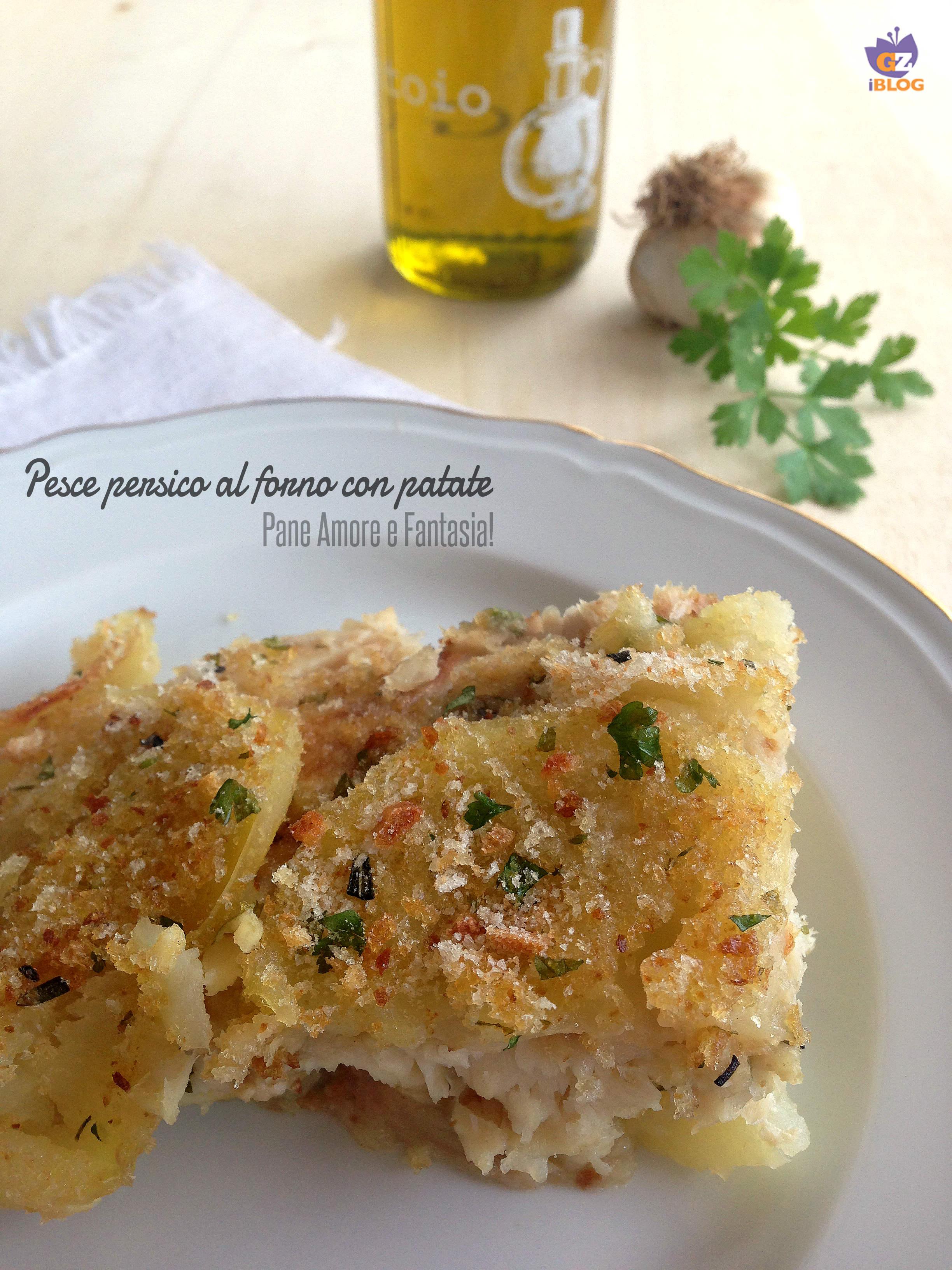 filetto di pesce persico al forno con patate