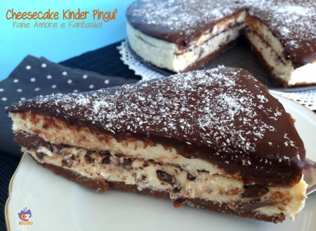 Cheesecake Kinder Pinguì – ricetta senza cottura