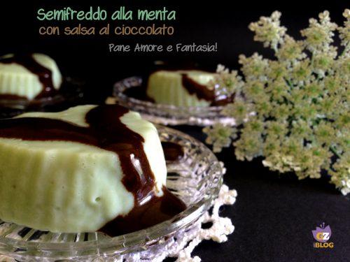 Semifreddo alla menta con salsa al cioccolato
