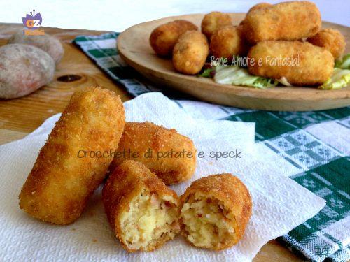 Crocchette di patate e speck – ricetta sfiziosa