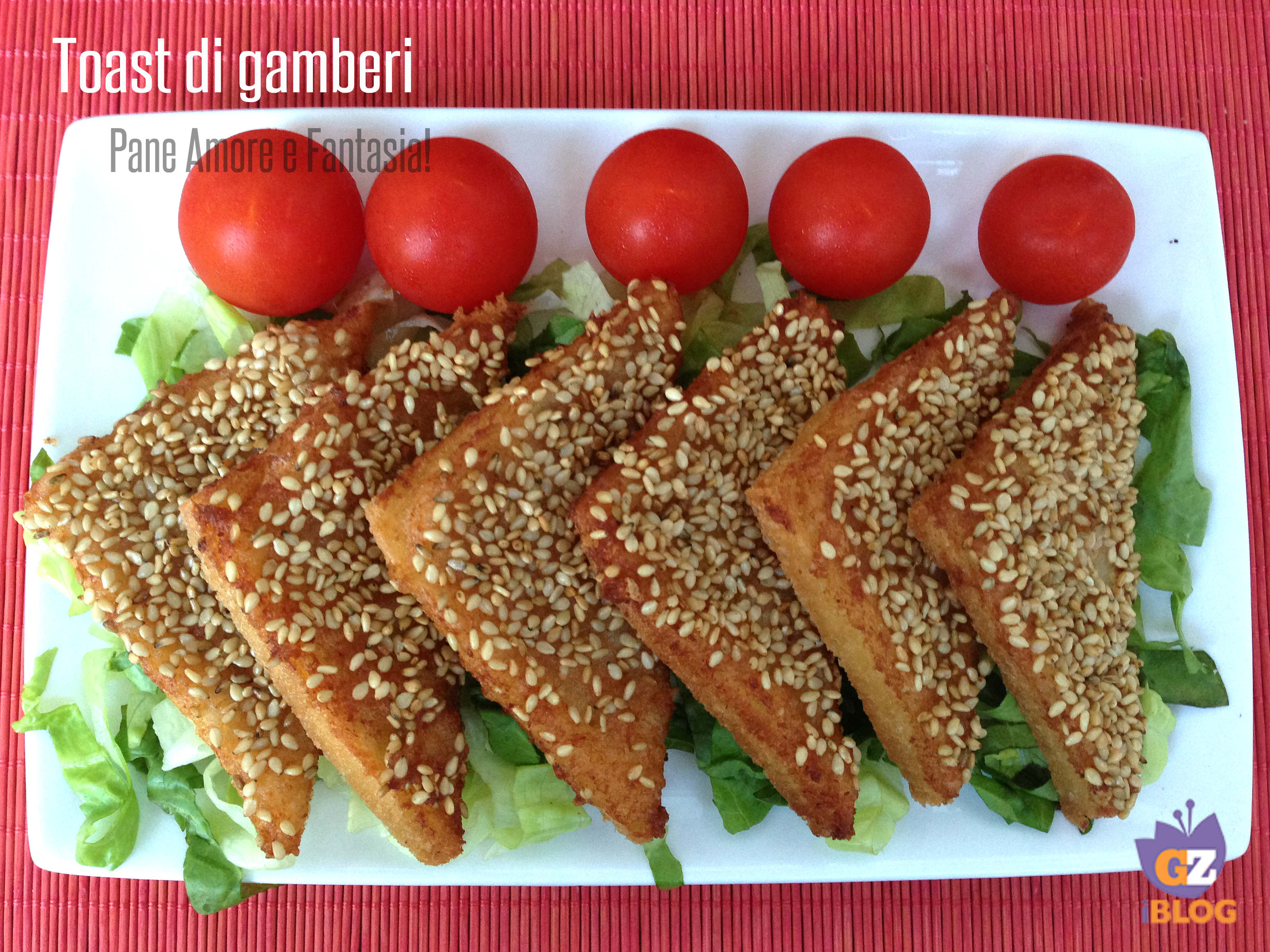 Toast di gamberi cinesi ricetta pane amore e fantasia for Gamberi alla piastra cinesi