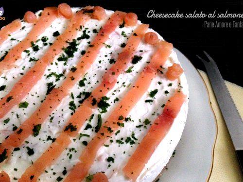 Cheesecake salato al salmone