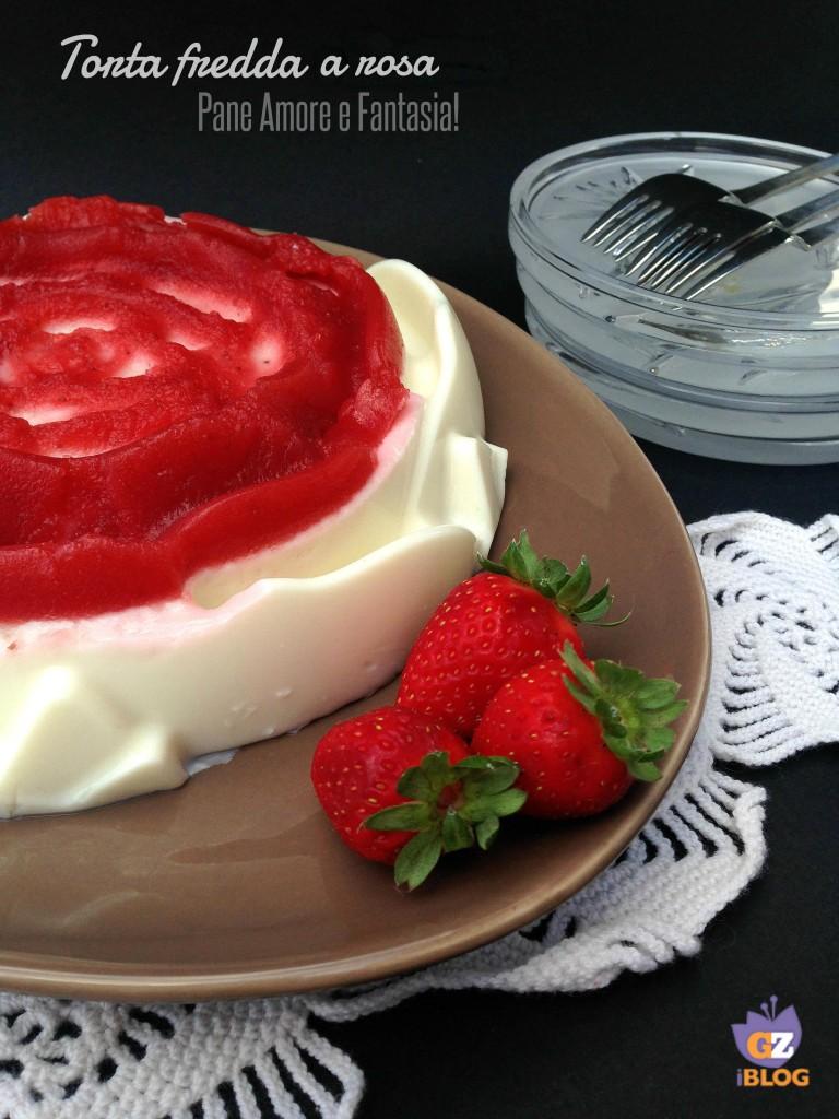 torta fredda a rosa