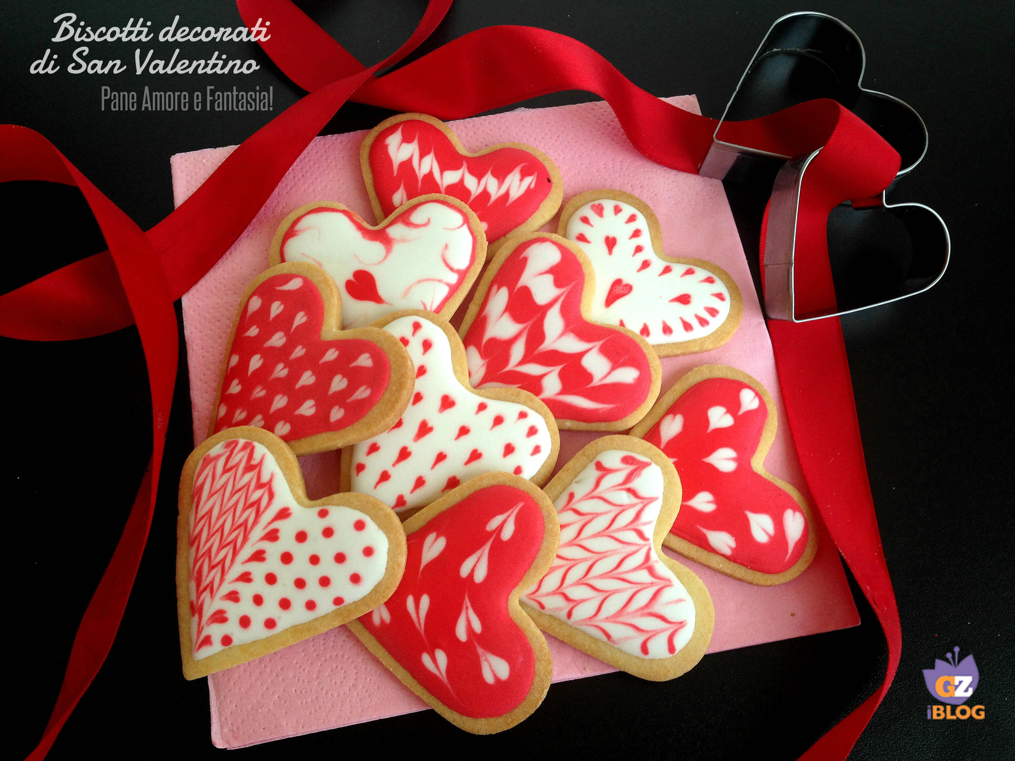 Biscotti di san valentino decorati pane amore e fantasia for Pensierini di san valentino