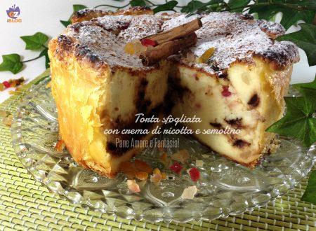 Torta sfogliata con crema di ricotta e semolino