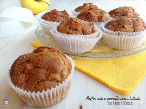 Muffin mele e cannella integrali, senza lattosio
