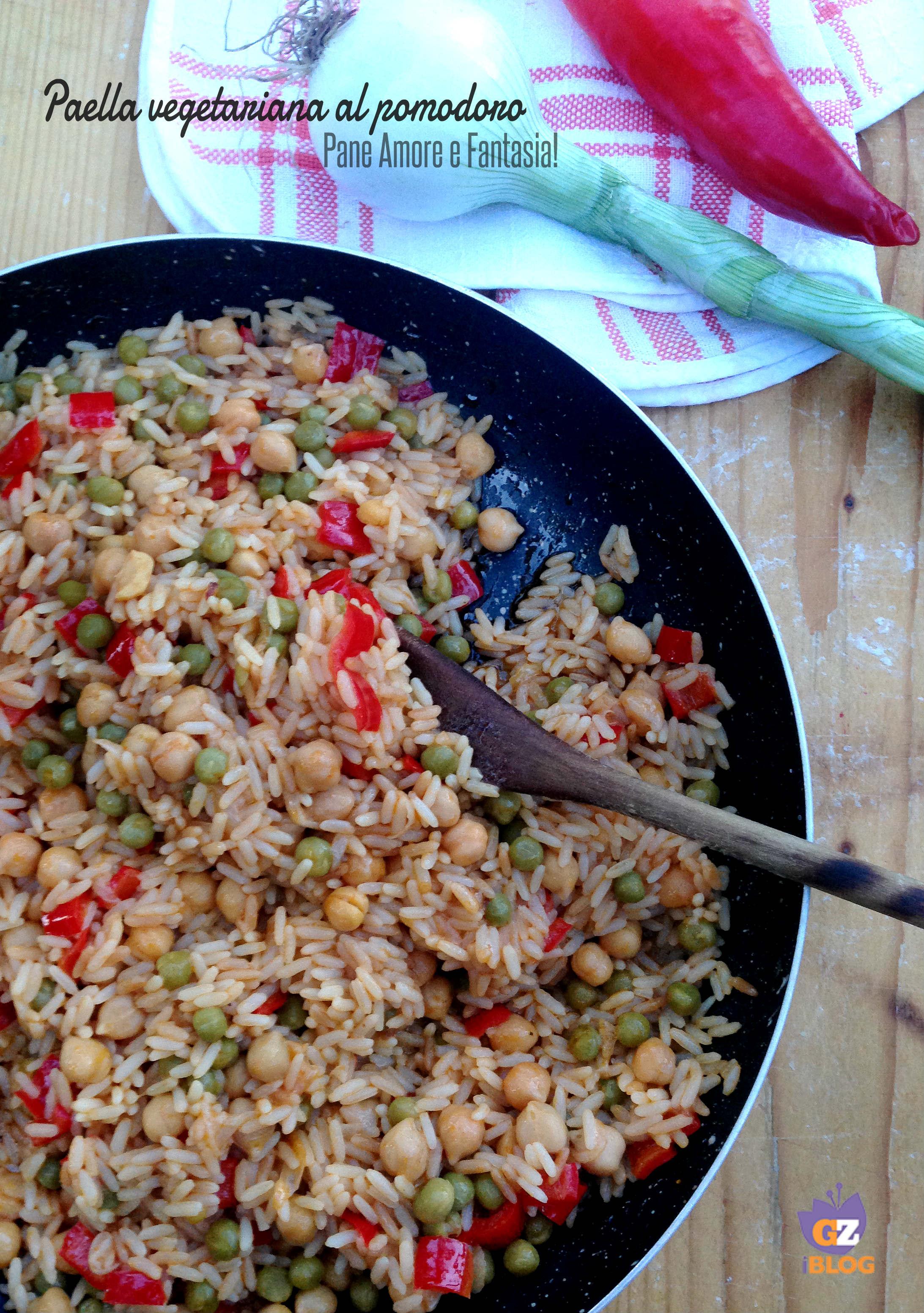 paella vegetariana al pomodoro